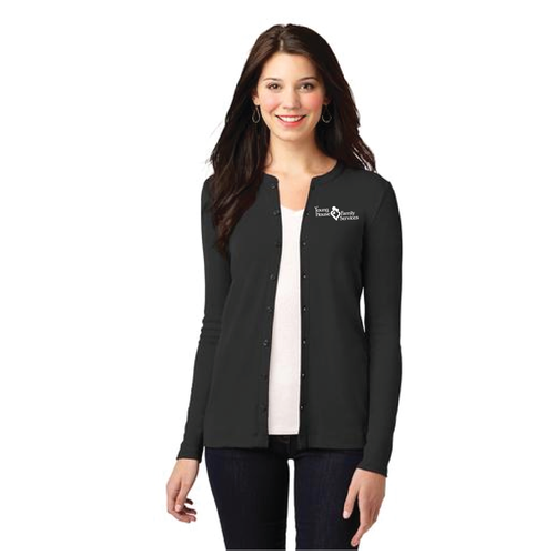YHFS Ladies Concept Stretch Button-Front Cardigan