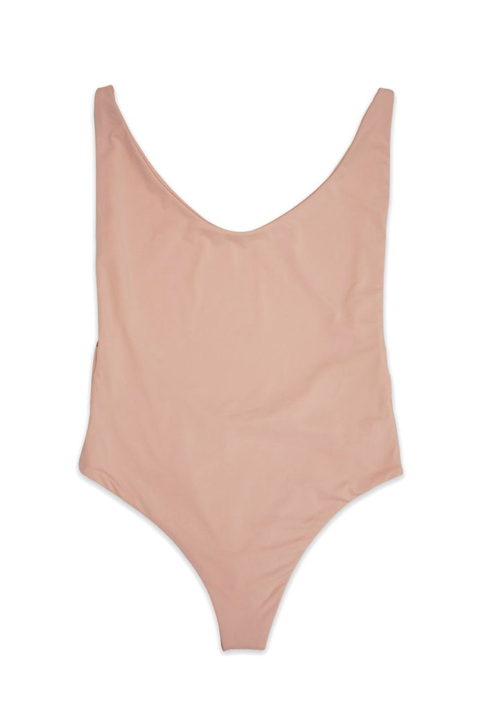Ada High Cut Thong One Piece in Cameo