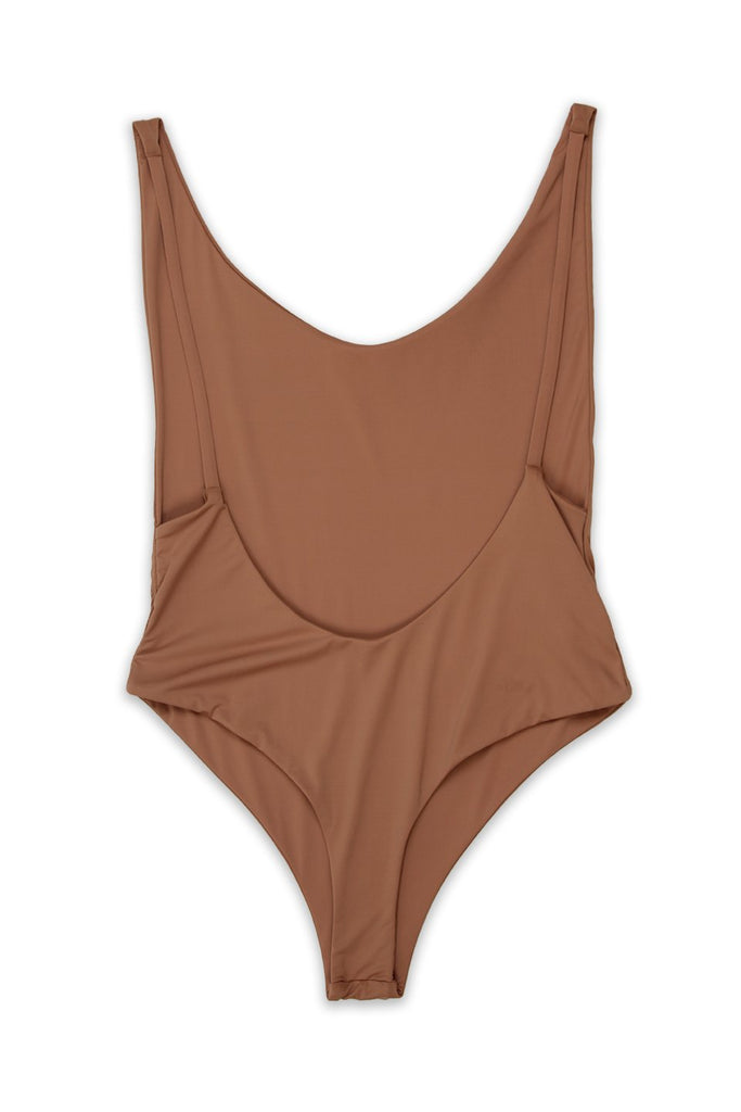 Ada High Cut Thong One Piece in Rosedawn