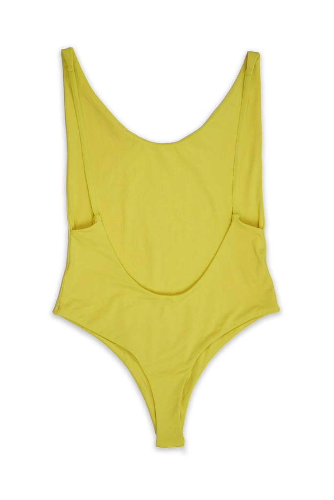 Ada High Cut Thong One Piece in Yellow