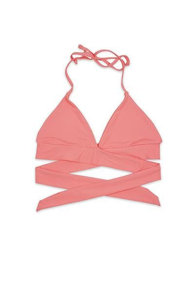 Vera Wrap Around Top in Coral