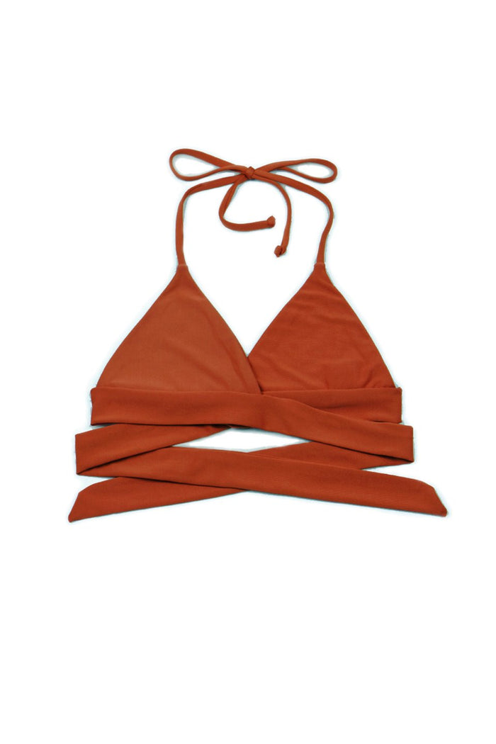 Vera Wrap Around Top in Rust