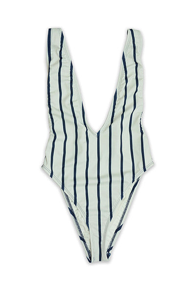 Chinwe High Cut Low V-Neck One Piece Swimsuit