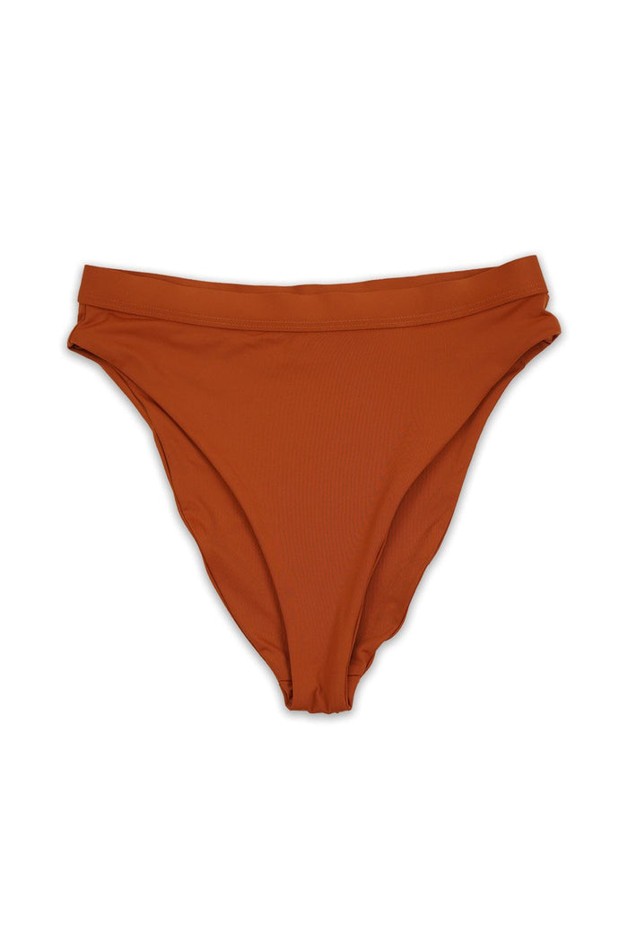 Amaka Rust High Waist Bikini Bottom