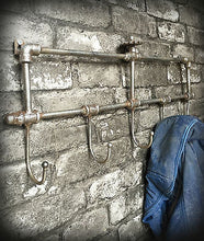 Vintage Industrial Style Steel Coat Hooks Pipe Features Home Furniture - Whaleycorn