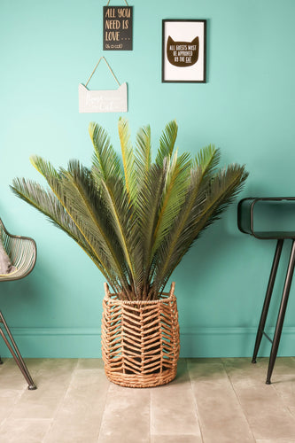 Cycad Artificial Plants Flowers Tree in Pot Plastic Indoor Outdoor Faux