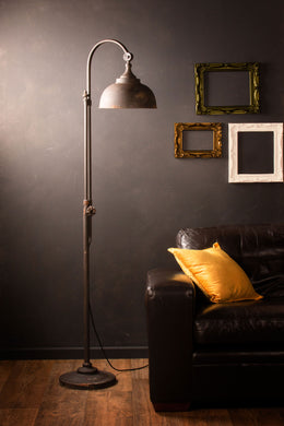 Retro Industrial Floor Lamp Vintage Style Iron Black Metal Tall Standing Pipe Tap Light - Whaleycorn