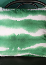 Cushion Green and White Striped - Whaleycorn
