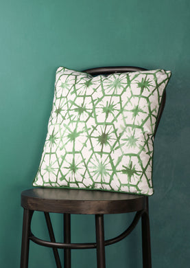 Cushion Patterned Green and White - Whaleycorn