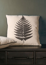 Cushion Natural Leaf Print Design White - Whaleycorn