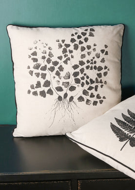 Cushion Natural Leaf and Roots Print Design - Whaleycorn