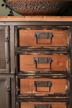 Vintage Industrial Storage Cabinet Sideboard on Wheels