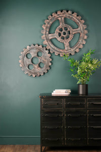 Retro Industrial Wall Hangings Gears Cog Art Decor Design Mechanism Metal Iron - Whaleycorn