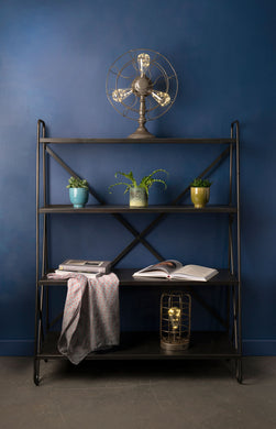 Industrial Style Metal Display Shelf Display Unit Shop or Home Furniture - Whaleycorn