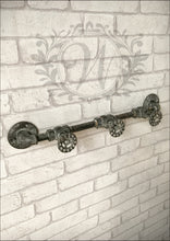 Industrial Style Metal Valve Wall Hooks Iron Tap Pipe Feature - Whaleycorn