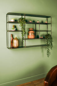 Large Retro Industrial Style Wall Unit Multi Shelf Wall Shelf Shelving