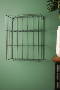 Retro Industrial Style Wire Shelving Wall Shelf Office Storage Kitchen Rack - Whaleycorn