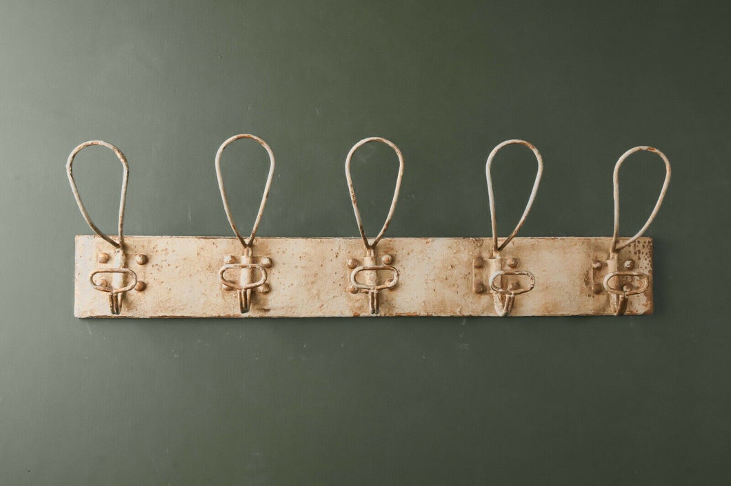 Industrial Style Metal Wall Coat Hooks Storage Vintage Antique Rustic Large - Whaleycorn