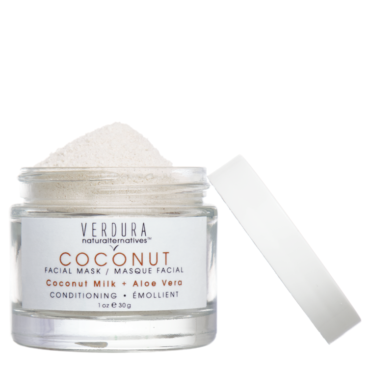 COCONUT FACIAL MASK | All natural-Vegan | VERDURA naturalternatives | Get your spa glow, make your skin silky & smooth with our coconut milk facial mask! Our pure and entirely natural formula softens the skin and improves elasticity. Perfect for dry skin or for a little extra conditioning this mask leaves the skin clean, supple, refreshed and radiant.