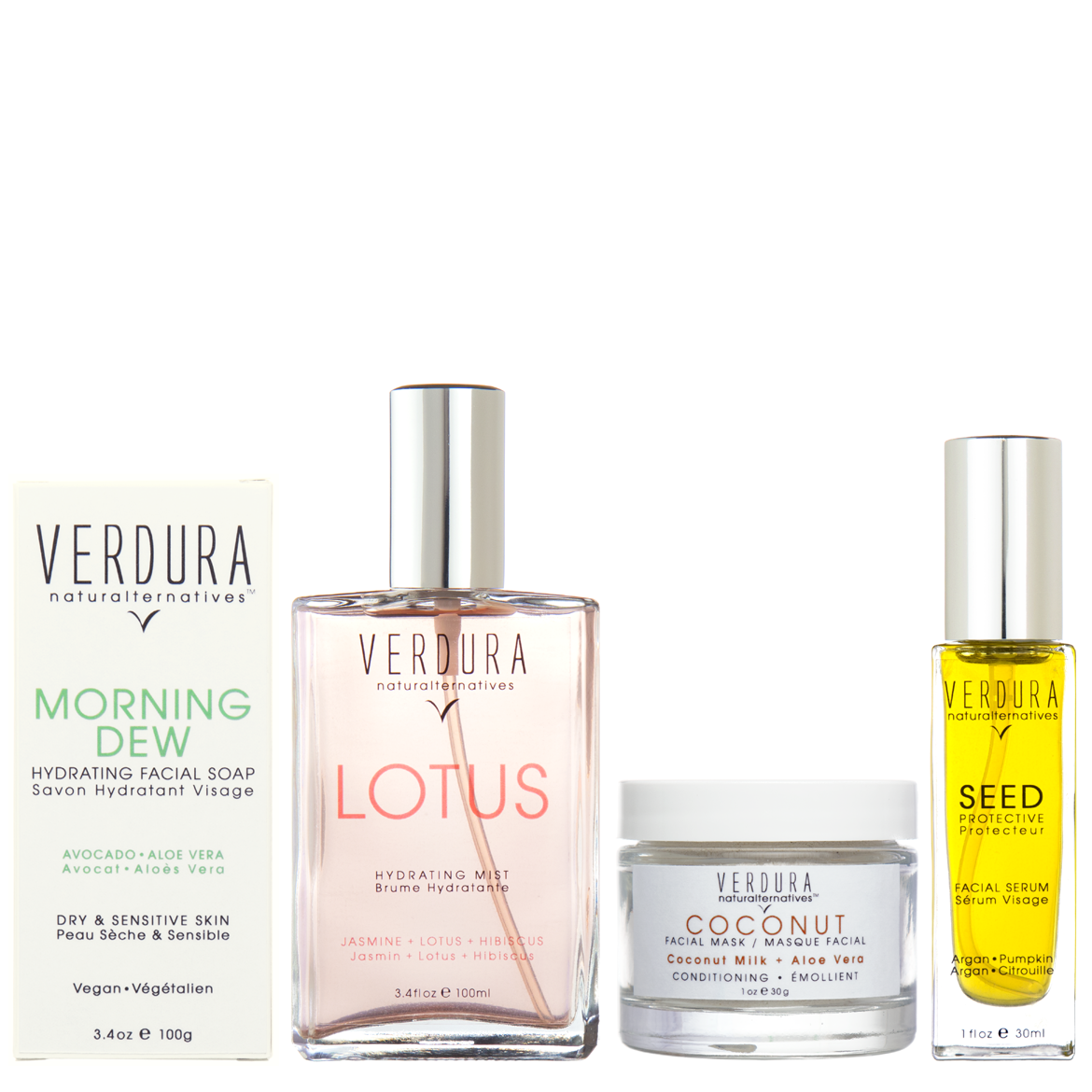 DRY/SENSITIVE SKIN REGIMEN | Natural-Vegan | VERDURA naturalternatives | Our