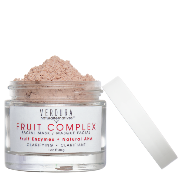 FRUIT COMPLEX FACIAL MASK | Natural AHA | VERDURA naturalternatives | Our Fruit Complex Facial Mask is formulated with carefully selected fruits for their high amount of enzymes, natural Alpha Hydroxy Acids to exfoliate dead skin. $48.00