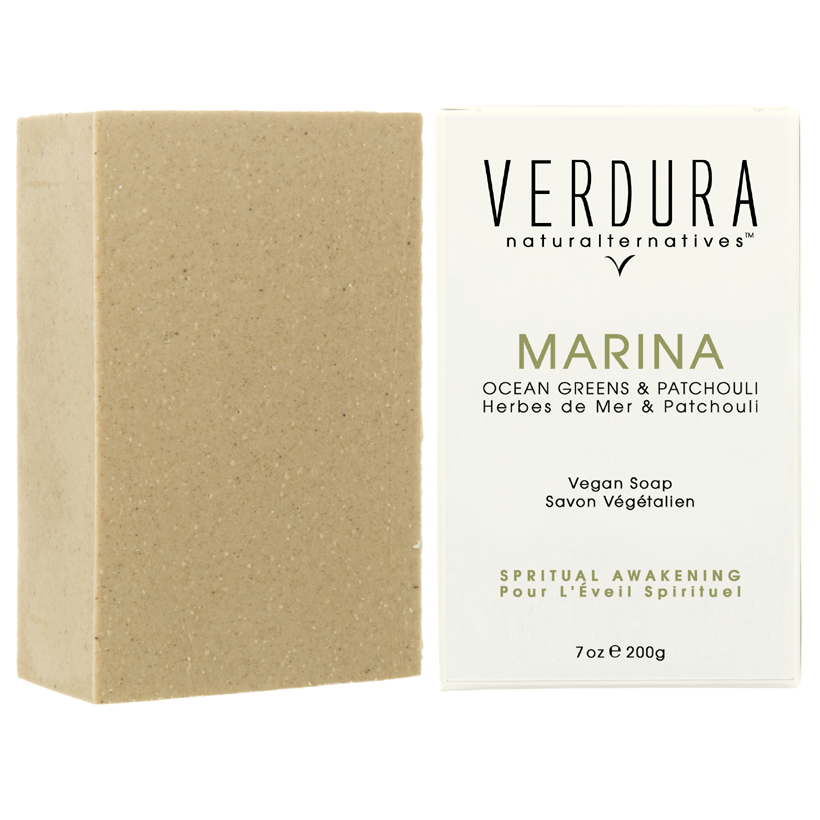 "MARINA SOAP BAR |100% Natural-Vegan | VERDURA naturalternatives | Our ""Marina"" soap is formulated with seaweed and pure essential oils that help feel grounded & awaken while delivering a fresh ocean scent. This elegant spa quality soap is formulated and conditioned with coconut oil, cacao butter and shea butter making it extremely soft and nourishing to the skin. Eco-Friendly.$14.00"