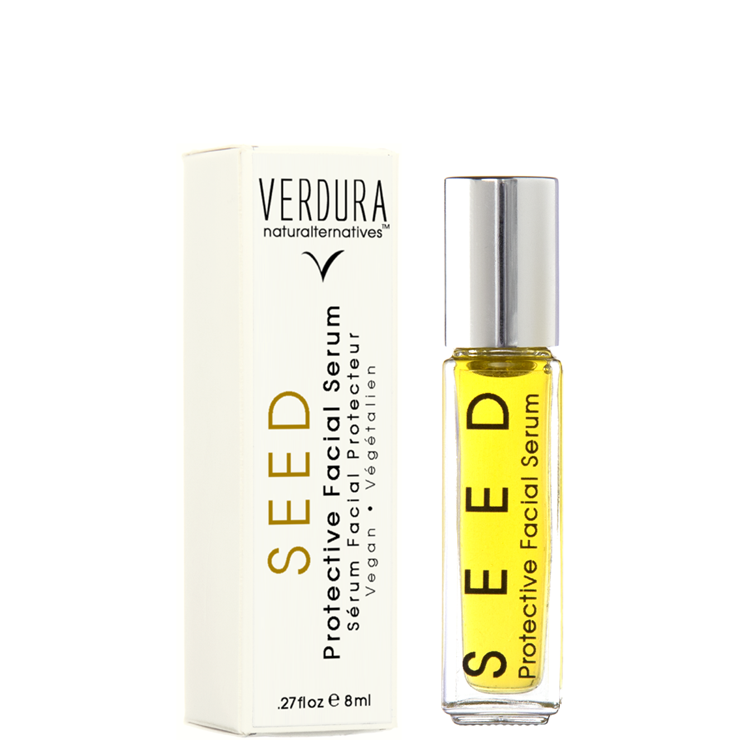 SEED FACIAL SERUM Travel Size | Vegan | VERDURA naturalternatives | FOR DRY TO NORMAL SKIN. Highly effective in repairing dry, damaged skin and providing a high dose of Vitamin A,C, E, K and omega 3, 6 & 9 beneficial for dry, cracked and chapped skin and to improve skin elasticity. It's naturally occurring SPF protection makes it beneficial against the appearance of age spots.
