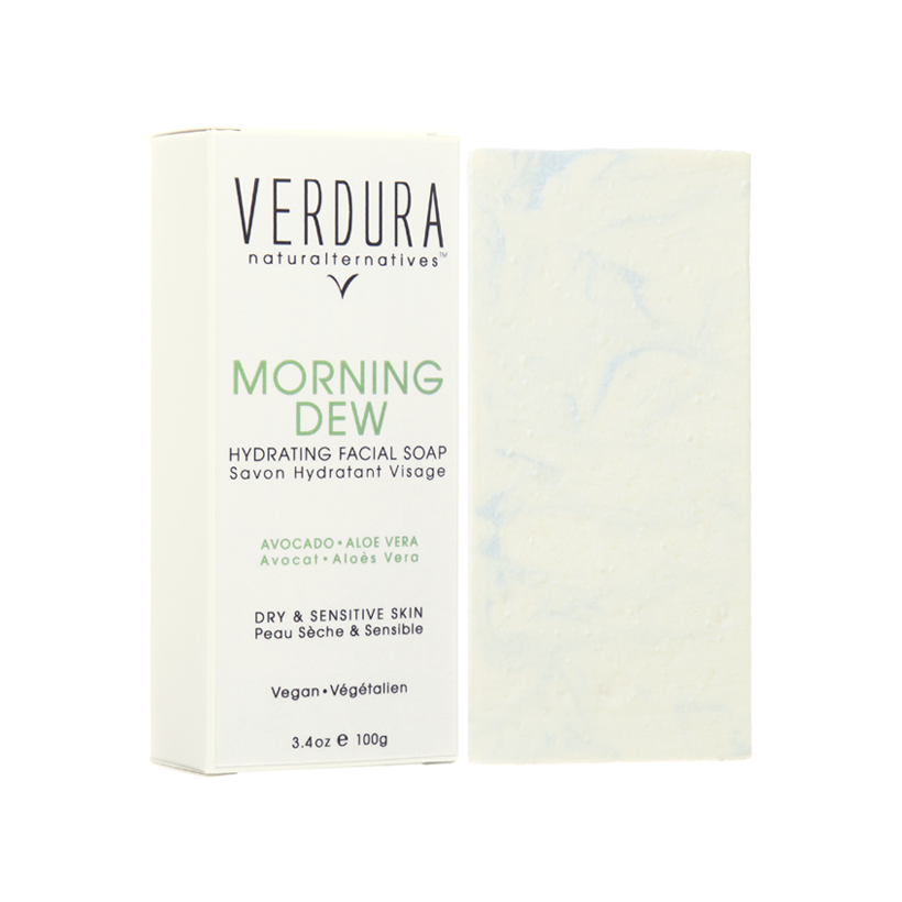 MORNING DEW FACIAL SOAP BAR | 100% Natural | VERDURA naturalternatives | Our