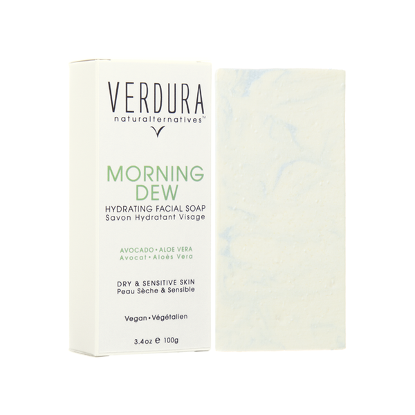 "MORNING DEW FACIAL SOAP BAR | 100% Natural | VERDURA naturalternatives | Our ""Morning Dew"" facial soap bar is formulated with avocado & aloe vera for maximum hydration, delivering the emollients and nutrients to deeply nourish and moisturize the skin while thoroughly cleansing the skin in the most gentle way. This cleansing bar is creamy and rich in important nutrients for the skin"