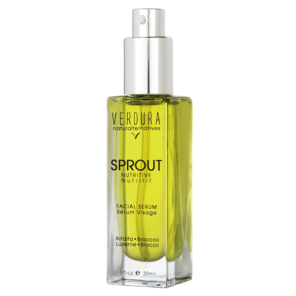 SPROUT FACIAL SERUM | Natural-Vegan | VERDURA naturalternatives | FOR NORMAL TO OILY SKIN Our Sprout Facial Serum is a unique superfood blend of micro green enzymes and luxurious anti-inflammatory oils with skin repair abilities that provide deep cellular absorption. Rich in silica and essential fatty acids, our formula contains antiseptic and antibacterial essential oils.