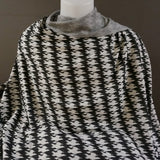 Houndstooth Knit Jacquard