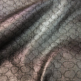 Alligator Skin Pattern Metallic Jacquard