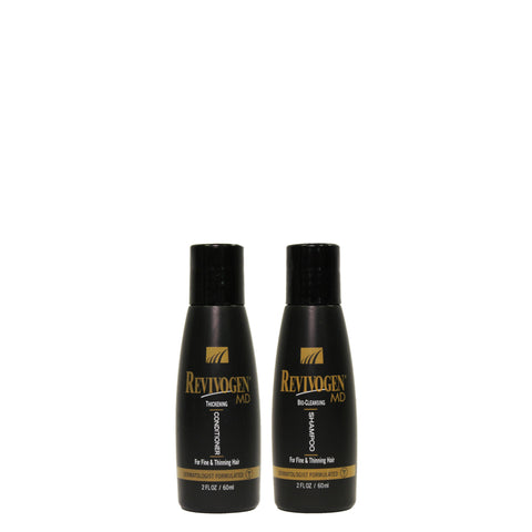 Revivogen MD Bio-Cleansing Shampoo & Revivogen MD Thickening Conditioner - TRAVEL Size - 60ml