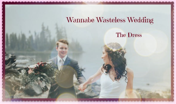 Wannabe Wasteless Wedding- The Dress