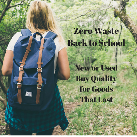 Zero Waste Back to School
