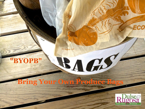 Reduce your plastic consumption- bring your own produce bags.