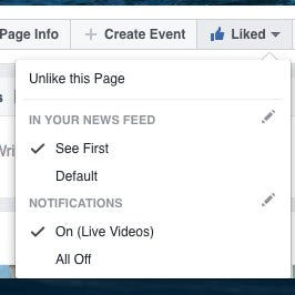 You have to tell FaceBook that you want to see info from a company and it's easy to do.