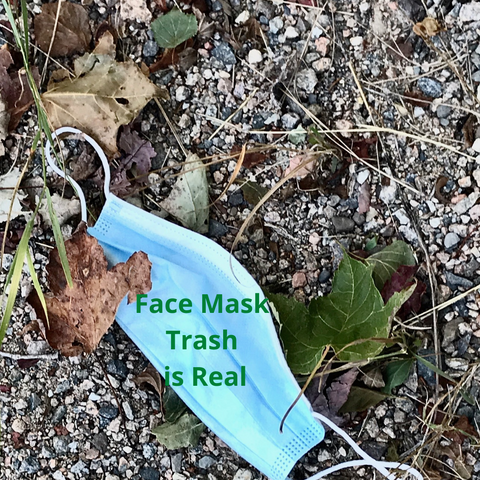 face masks create trash and danger to wildlife