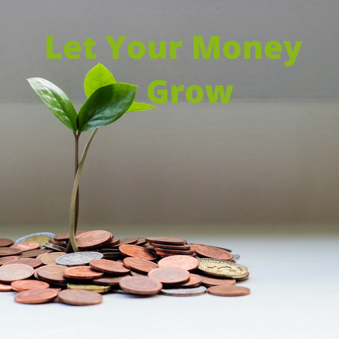 Coins and a seedling to illustrate how we spend our money makes a difference