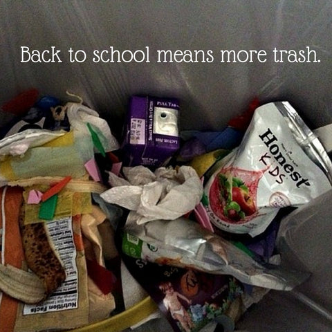 Check out our tips for less trash with the back to school routine.