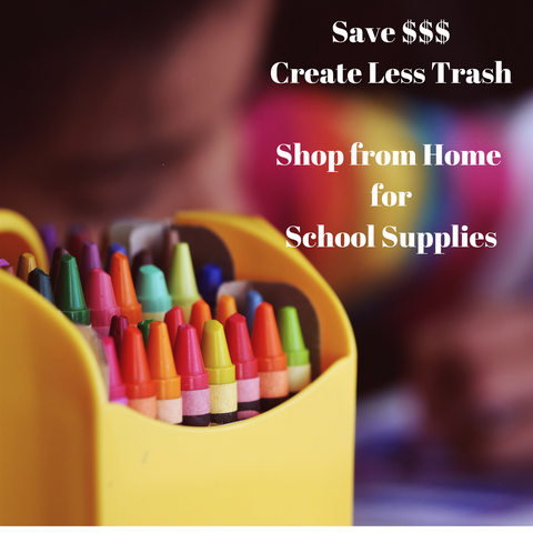 clean around the house first for school supplies.