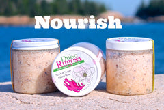 Dulse and Rugosa scrubs contain nourishing Maine seaweed.