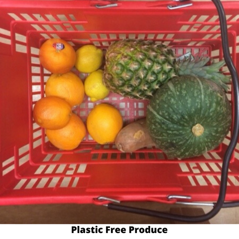 Tips for reducing plastic.  Plastic free produce.