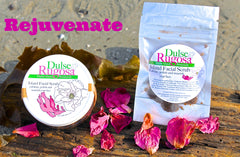 Dulse and Rugosa gentle seaweed rich face scrub.