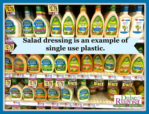 By making your own salad dressing you can eliminate a lot of single use plastic bottles.