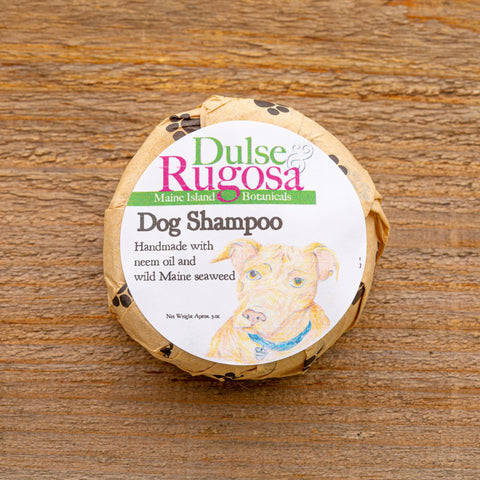 Our Dog Shampoo is a gentle shampoo and conditioner loaded with seaweed, neem oil, and essential oils to help keep fleas away.