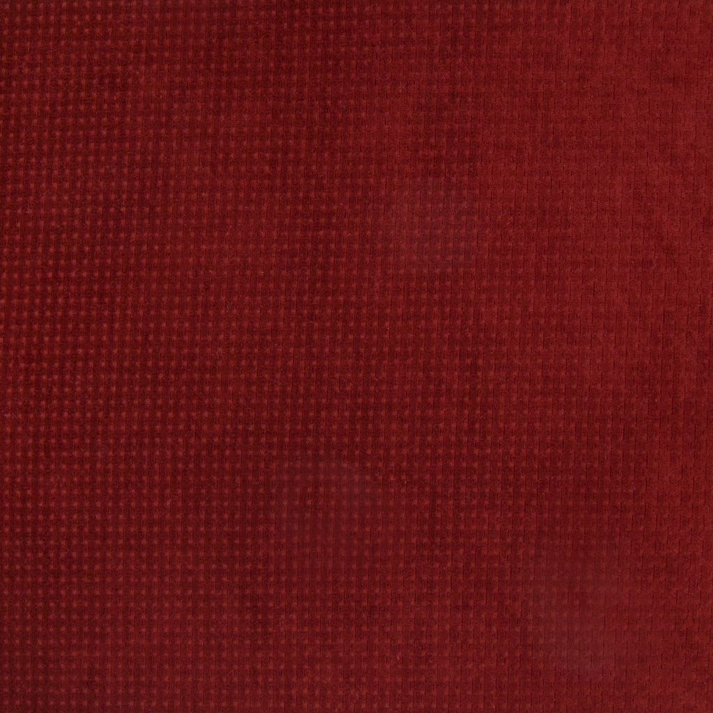 Cayenne Red Burgundy Solid Geometric Samll Scale Chenille Upholstery Fabric