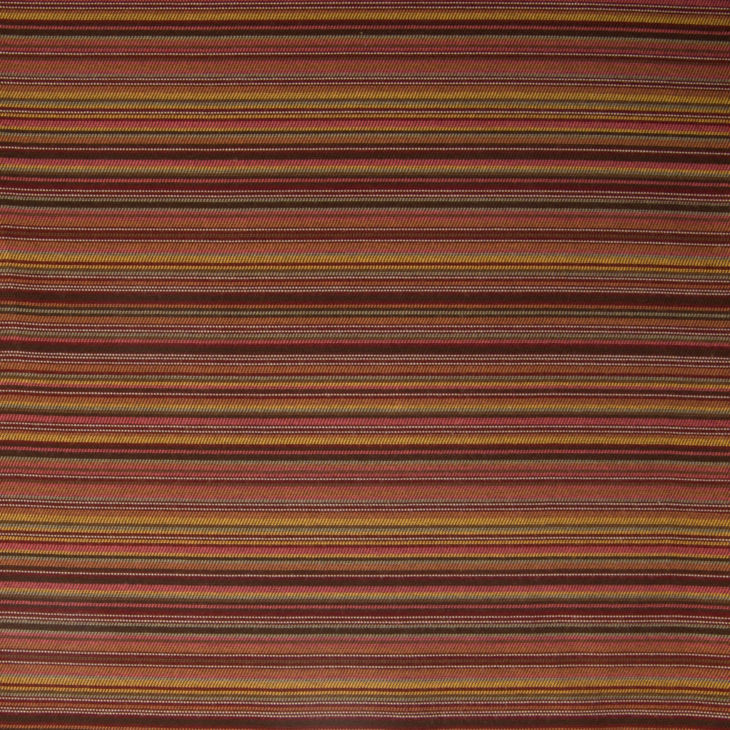 Terracotta Red Burgundy Brown Gold Stripe Woven Chenille Upholstery Fabric
