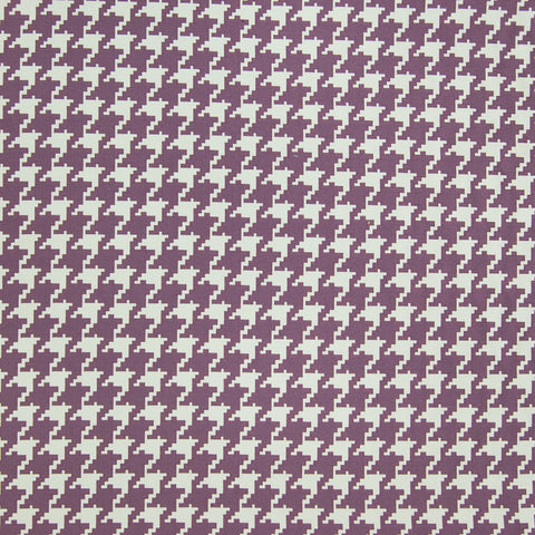Grape Purple Check Houndstooth Geometric Jacquard Upholstery Fabric