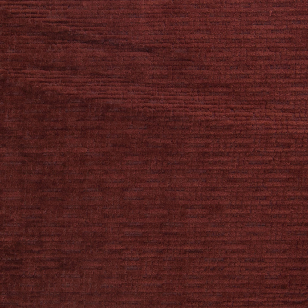 Wine Red Solid Woven Chenille Texture Upholstery Fabric